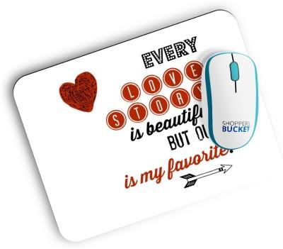 Shoppers Bucket Love Story Mousepad