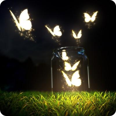 Shopmillions Glowing Butterfly Art Mousepad