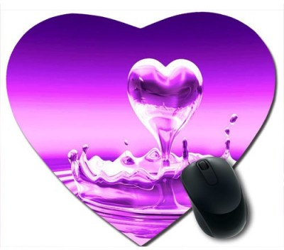 awwsme Coming Out Droplet Of Heart Mousepad