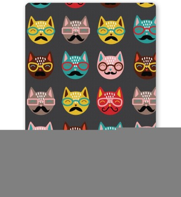 PosterGuy Quirky Moustache Cats Pattern Quirky Mousepad