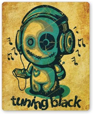 PosterGuy Tuning Black Golden Background Illustration Music Mousepad