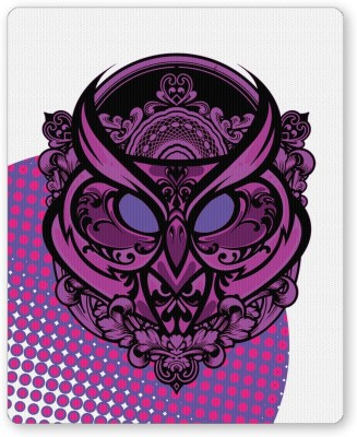 PosterGuy Pop Art Owl Eccentric (Purple) Digital Art Mousepad