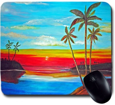 Awwsme Sun Rising Painting Mousepad