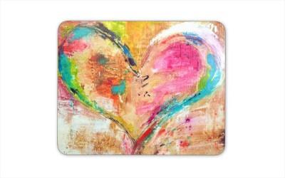 Digiclan Digiclan Multicolor heart Mouse pad-SZMP001 Mousepad