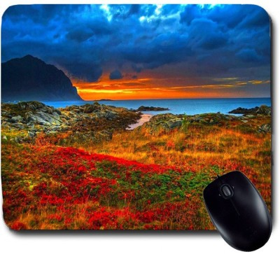 Awwsme Sun Setting Behind The Mountain 1 Mousepad