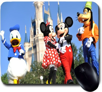 Awwsme Mickey And Minni Together Walking Mousepad