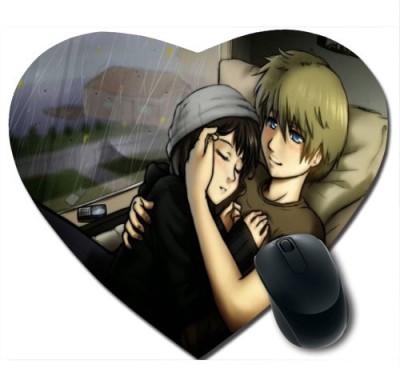 Awwsme Two Couples Near By Window Heart Mousepad