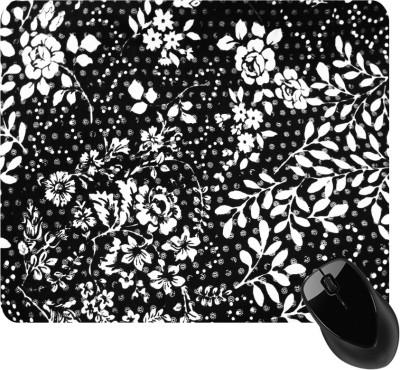 BSEnterprise Black And White flower Mousepad