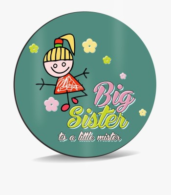 SKY TRENDS Sky Trends Big Sister To A little Mister With Design Dark Green Design Gifts. Mousepad