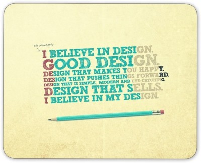 Digiclan Believe in Good Design Mouse pad Mousepad