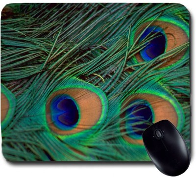 Awwsme Lots Of Peacock Feather Mousepad