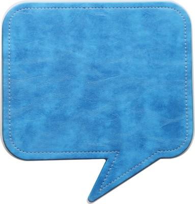 Random in Tandem Speech Bubble Blue Mousepad(Blue)