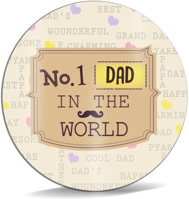 SKY TRENDS No.1 DAD In The World With Mustaches Unique Gifts For Happy Father's Day Mousepad