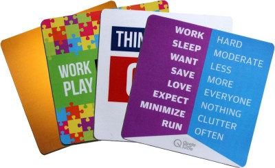 QuoteSutra Collection to Inspire & Motivate Employees Set of 4 Mousepad