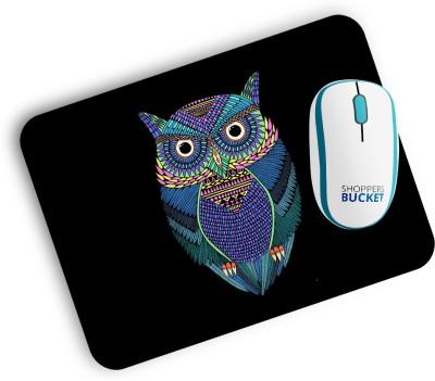 Shoppers Bucket Mr Owl Mousepad