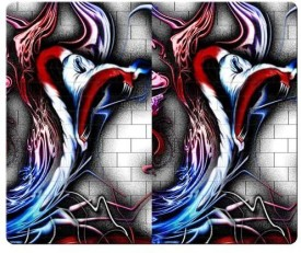 Magic Cases personal accurate cloth + Environmental Non-skid improved pink floyd 2 Mousepad(Multicolor)