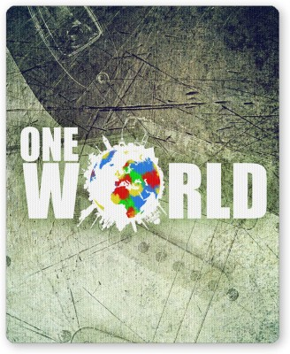 PosterGuy One World Graphic Design Graphic Illustration Mousepad