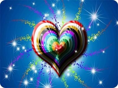SYL Colourfull Heart Mousepad