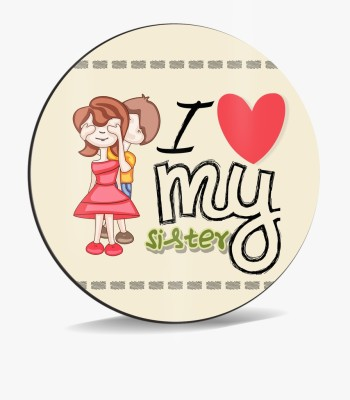 SKY TRENDS Sky Trends I Love My Sister With Blind in Eyse Heart Smile Gifts. Mousepad