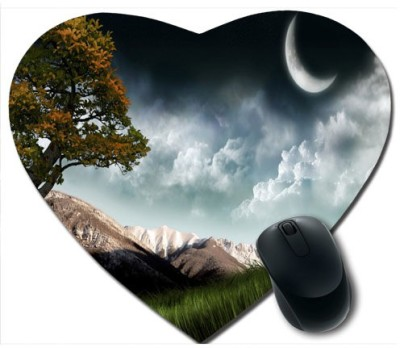 awwsme Trees, Mountain And Cloud Heart Mousepad
