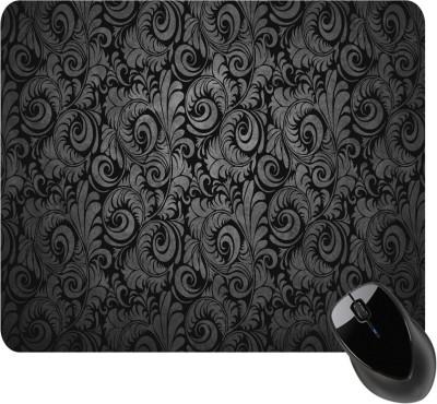 BSEnterprise Black And Grey Floral Mousepad