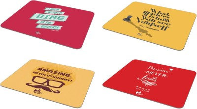 Thinkpot Be amazing. + Passion never fails + What matters + I want to put a ding - Mousepad ( Set of 4) Mousepad