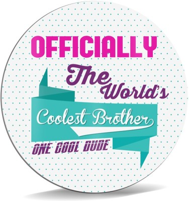 SKY TRENDS Officially The World's Coolest Brother One Cool Dude With Floral Special Gifts For Birthday And Anniversary Mousepad