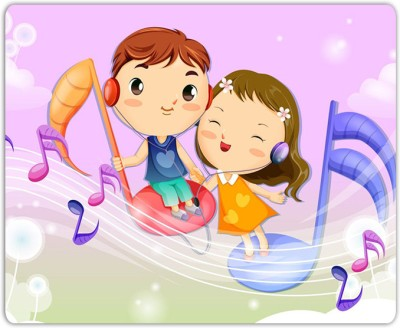 Lovely Collection Music Kids Mousepad