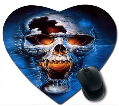 awwsme Deadly Skull Heart Mousepad