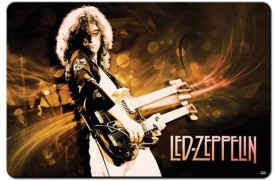 Shoperite Led Zeppelin Jimmy Page Playing Guitar Mousepad