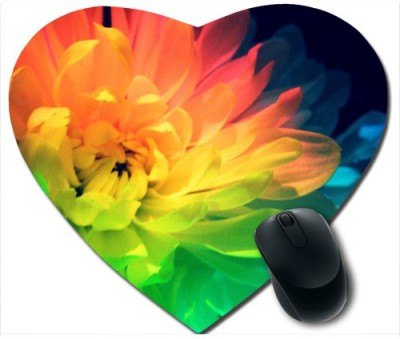 Awwsme Different Colour Flower Heart Mousepad