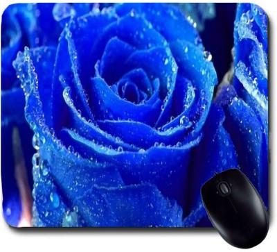 Awwsme Blue Rose Full Of Due Mousepad