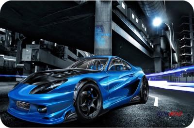 RUKMINI BLUE CAR Mousepad