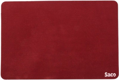 Saco Non-Skid Velvet Fabric Gaming Mousepad(Maroon)