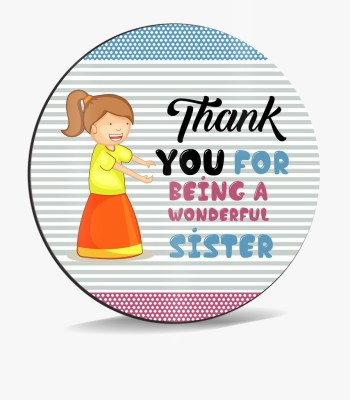 SKY TRENDS Sky Trends Thank You For Being A Wonderful Sister Design Colorful Shading Abstract Gifts. Mousepad