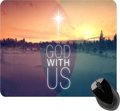 BSEnterprise God With Us Mousepad(Multicolor)