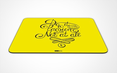 InstaNote Do It With Passion Or Not At All Mousepad