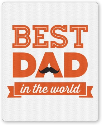 PosterGuy Best Dad In The World Quote | Father's Day Gifts Mousepad