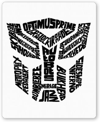 PosterGuy Autobot Optimus Prime Transformer (Black and White) Mousepad