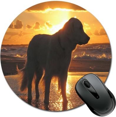 SBBT Dog At Sun Rising Mousepad