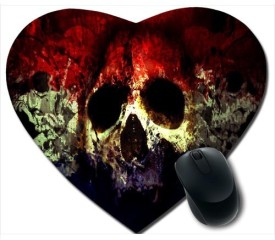 Awwsme Colourful Horror Face Heart Mousepad