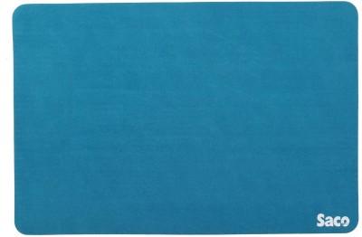 Saco Non-Skid Velvet Fabric Gaming Mousepad(Blue)