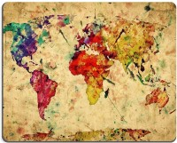 Magic Cases Vintage world map Colorful paint watercolor retro style expression on grunge old paper Mousepad(Multicolor) best price on Flipkart @ Rs. 649
