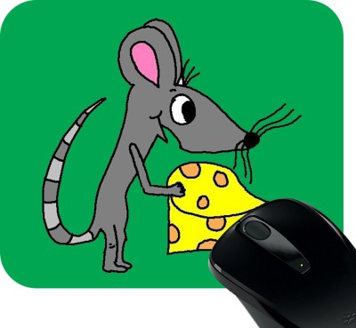 Huppme Mouse With Cheese Mousepad Mousepad
