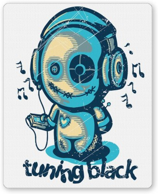 PosterGuy Tuning Black White Digital Art Mousepad