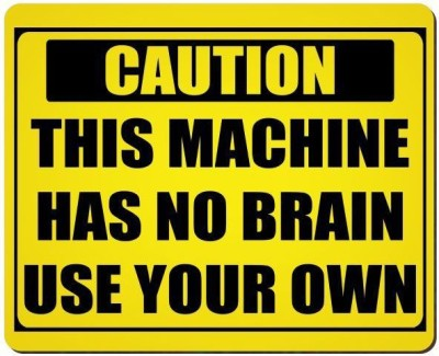 Urban Monk Machine Has No Brain Mousepad