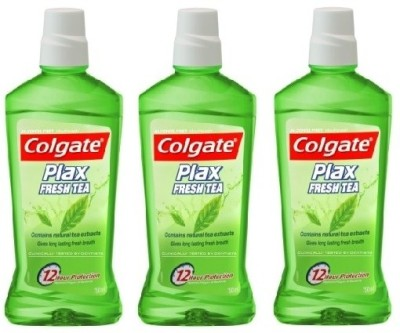 Colgate Plax Mouthwash Fresh Tea - Regular (3 packs) - Fresh Tea(750 ml)