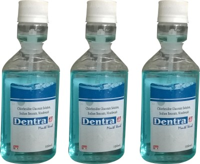 DENTRA Mouth Wash pack of 3 - GEL