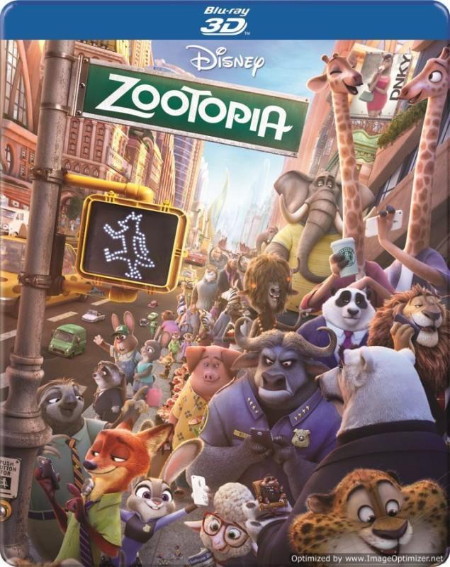 Zootopia - 3D BD Steelbook(3D Blu-ray English)