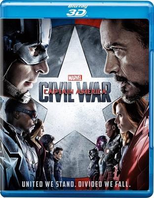 Captain Ameirca Civil War 3D(3D Blu-ray English)